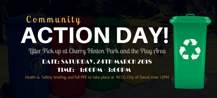 Community Action Day - Saturday, 24 March 2018