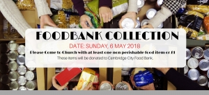 FOODBANK COLLECTION DAY - SUNDAY, 1ST APRIL  2018