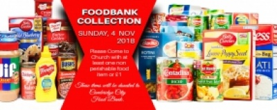 FOODBANK COLLECTION DAY - SUNDAY, 7 Oct  2018